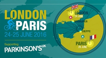 London to Paris in aid of Parkinsons