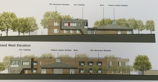 Plans for a new building at Churchill Square Kings Hill