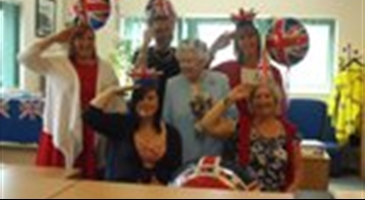 Staff salute to the Queens celebrations
