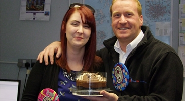 Customers get free cake celebrating nine years in Croydon