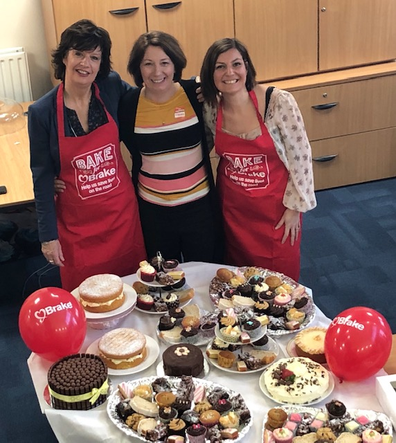 Team effort at the 'Bake for Brake' cake sale