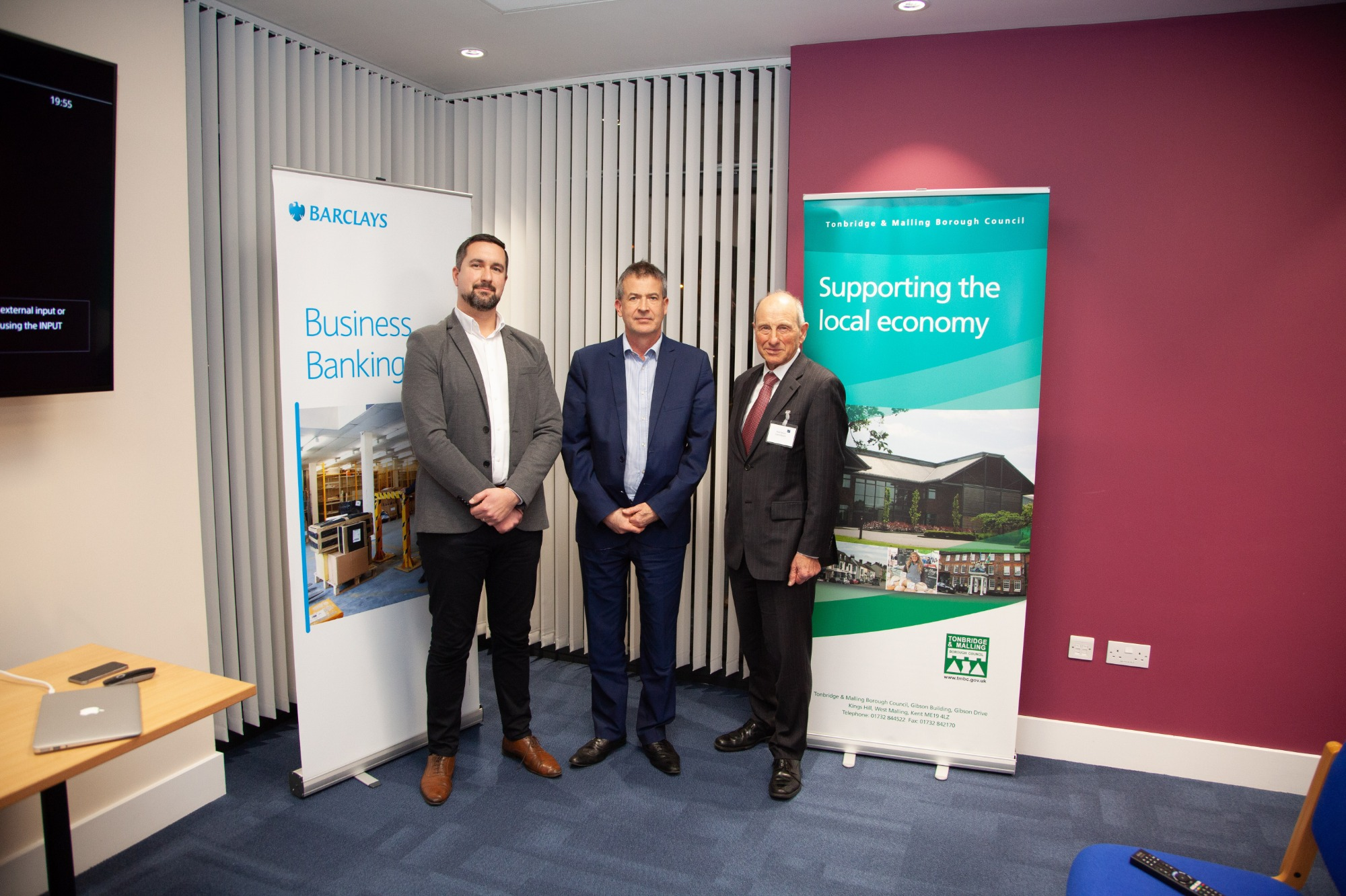 From left: Alex Douglas, Barclays; Nicholas Heslop, Tonbridge and Malling Borough Council and Peter Boam, Capital Space.