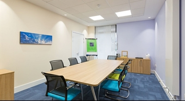 Our refurbished meeting room in the Churchill Square Business Centre, Kings Hill