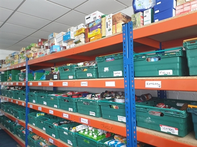 Epping Forest Foodbank help to feed families in need