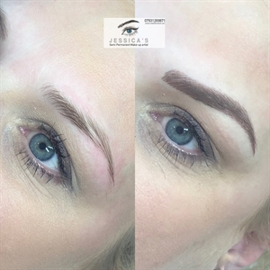 Jessica\'s microblading achieves shapely brows