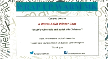 Milton Keynes Business Centre Support Wrap Up Warm MK